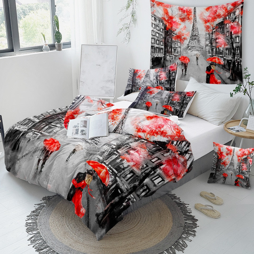 Romantic Paris Tower Bedding Set - Beddingify