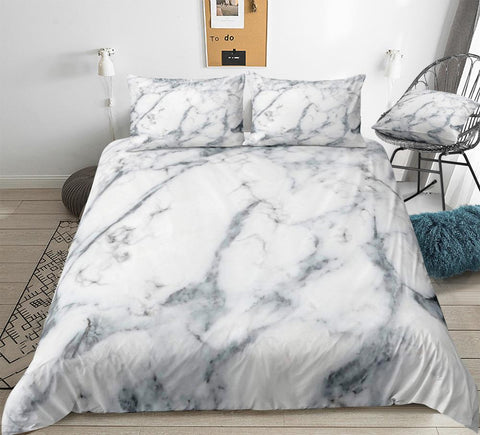 Image of Gray Marble Bedding Set - Beddingify