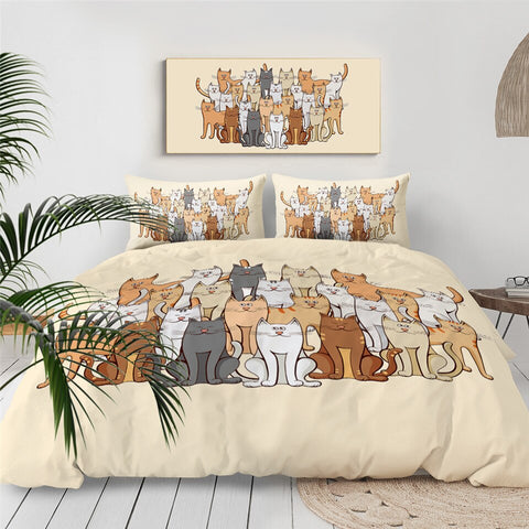Image of Cute Cats Bedding Set for Kids - Beddingify