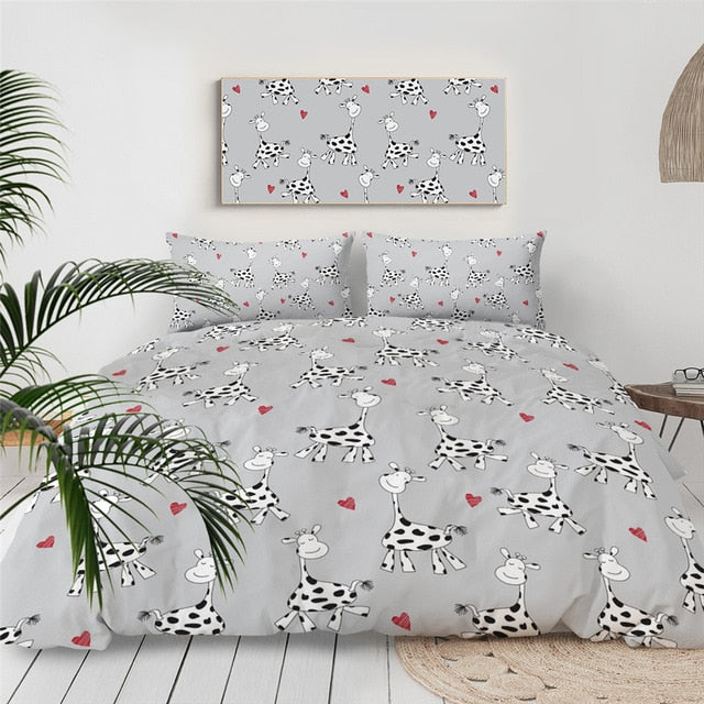 Cute Milk Cow Bedding Set - Beddingify