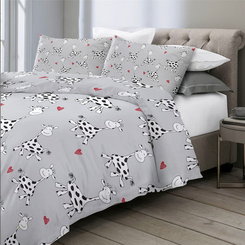 Image of Cute Milk Cow Bedding Set - Beddingify