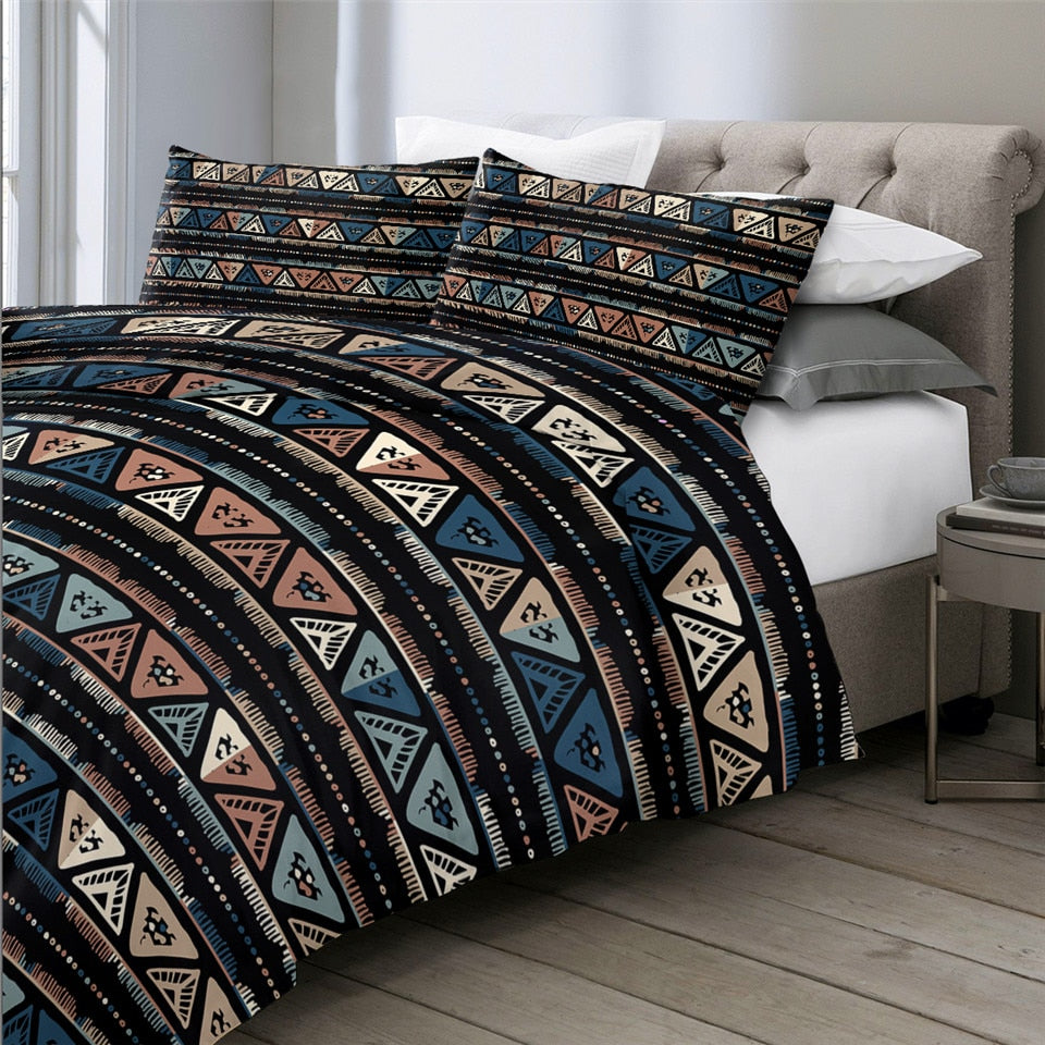 Geometric Ethnic Native Bedding Set - Beddingify