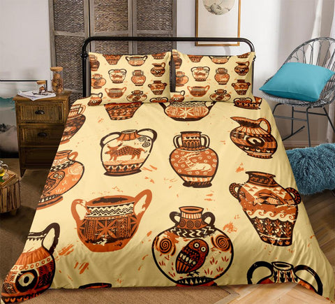Image of Retro African Pattern Bedding Set - Beddingify