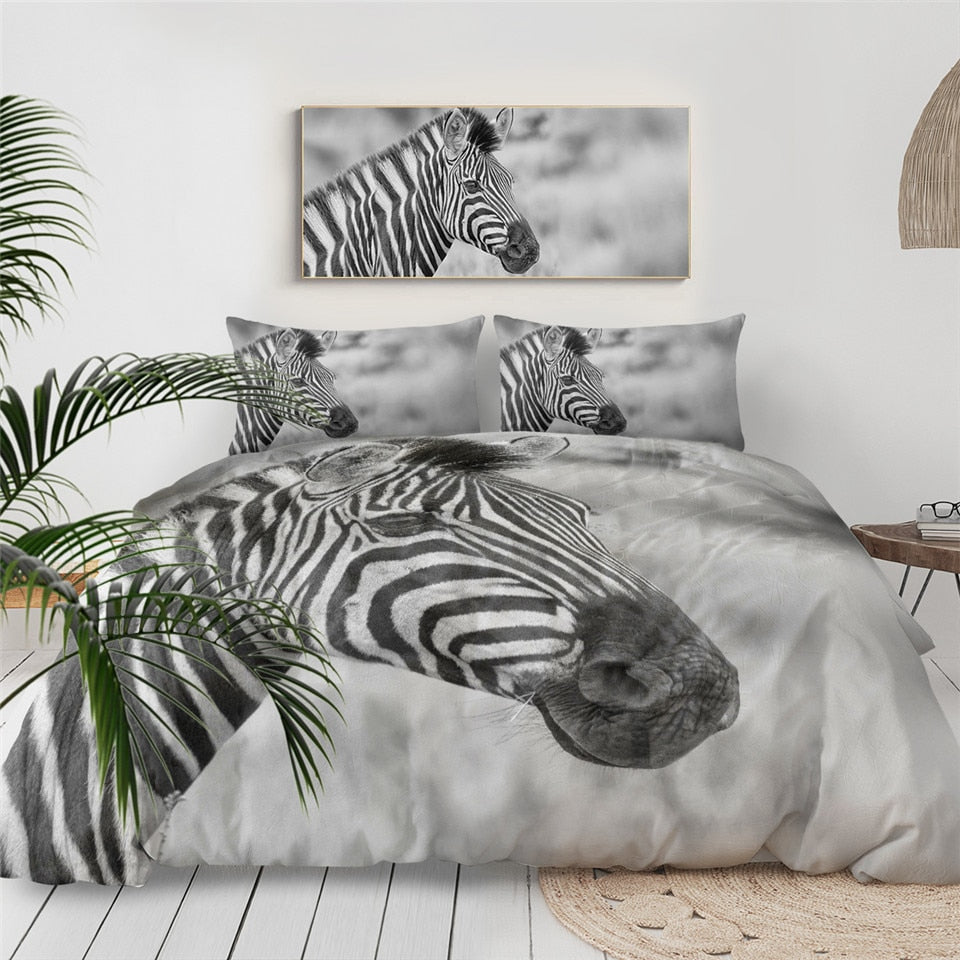 Zebra Face Bedding Set - Beddingify
