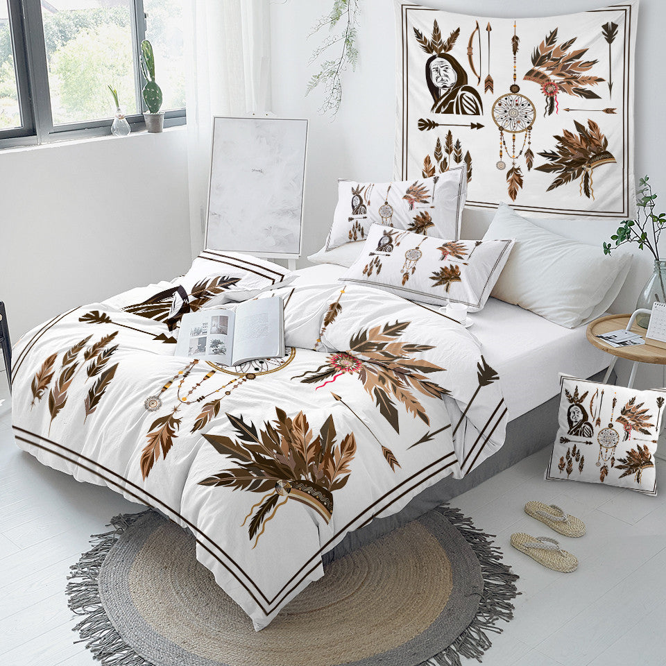 Dreamcacher And Feathers Bedding Set - Beddingify