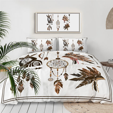 Image of Dreamcacher And Feathers Bedding Set - Beddingify