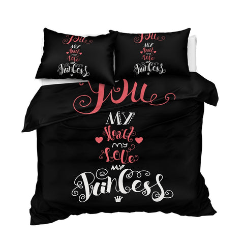 Image of You My Heart My Love My Princess Bedding Set - Beddingify