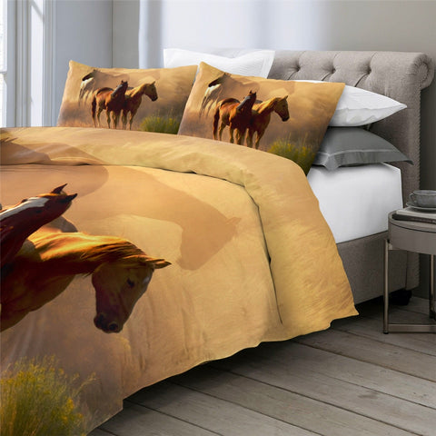 Image of Realistic Horses Bedding Set - Beddingify