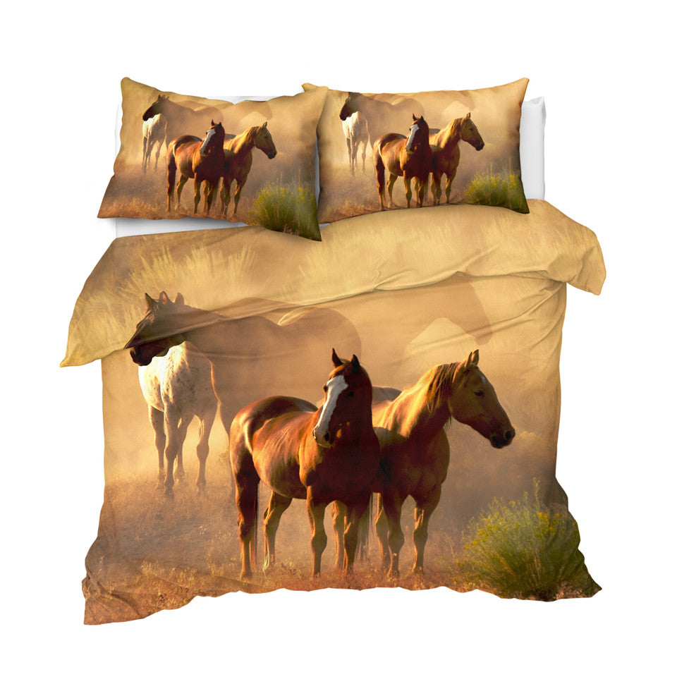 Realistic Horses Bedding Set - Beddingify