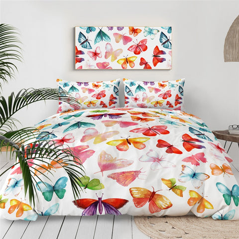 Girly Butterflies Bedding Set - Beddingify