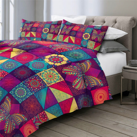 Patchwork Butterfly Bedding Set - Beddingify