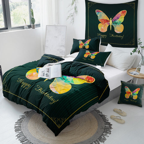 Image of Tie Dye Butterfly Bedding Set - Beddingify
