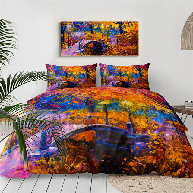 Autumn Forest Leaf Nature Bedding Set - Beddingify
