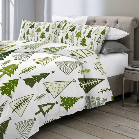 Image of Christmas Ttrees Bedding Set - Beddingify