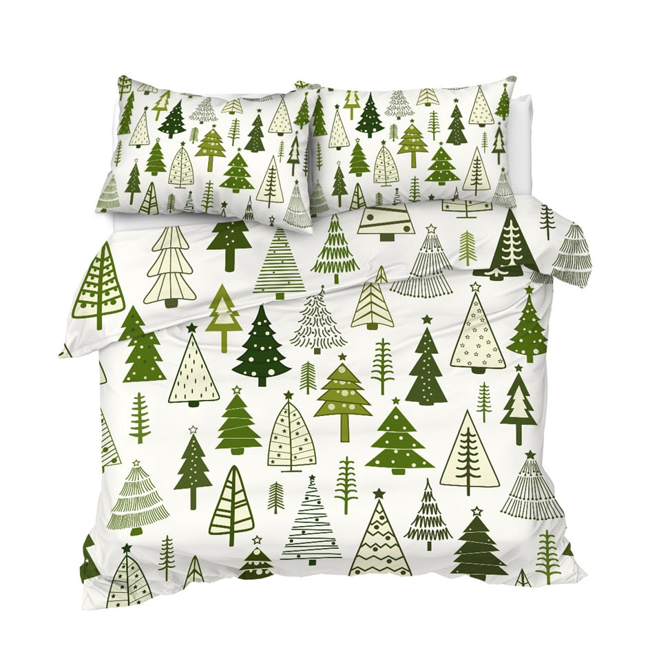 Christmas Ttrees Bedding Set - Beddingify