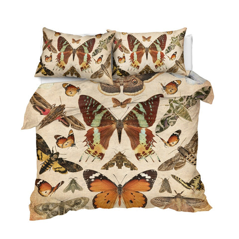 Vintage Butterflies Bedding Set - Beddingify