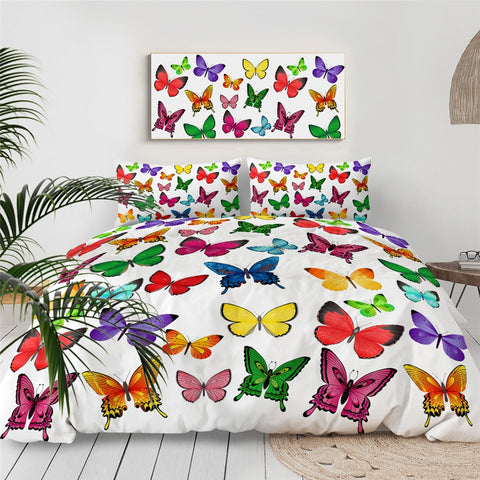 Image of Colorful Butterflies Bedding Set - Beddingify