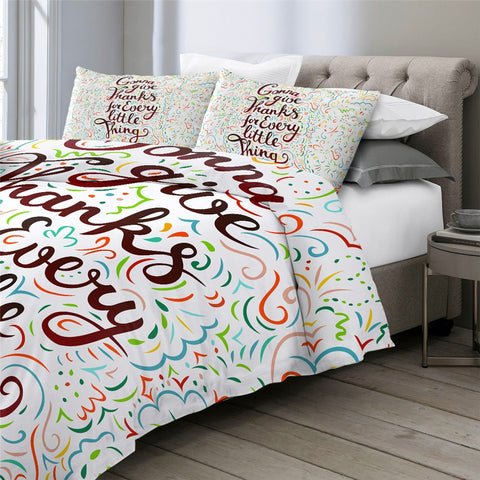 Image of Thanksgiving Quote Bedding Set - Beddingify