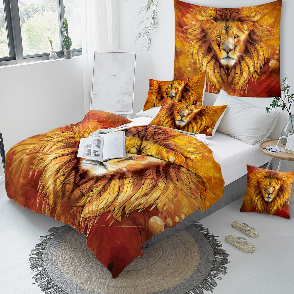 Tribal Lion Bedding Set - Beddingify