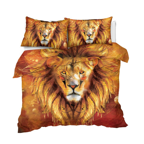 Image of Tribal Lion Bedding Set - Beddingify