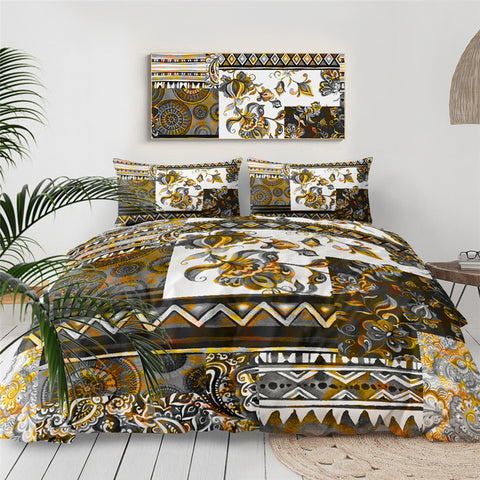 Image of Luxury Patchwork Pattern Bedding Set - Beddingify
