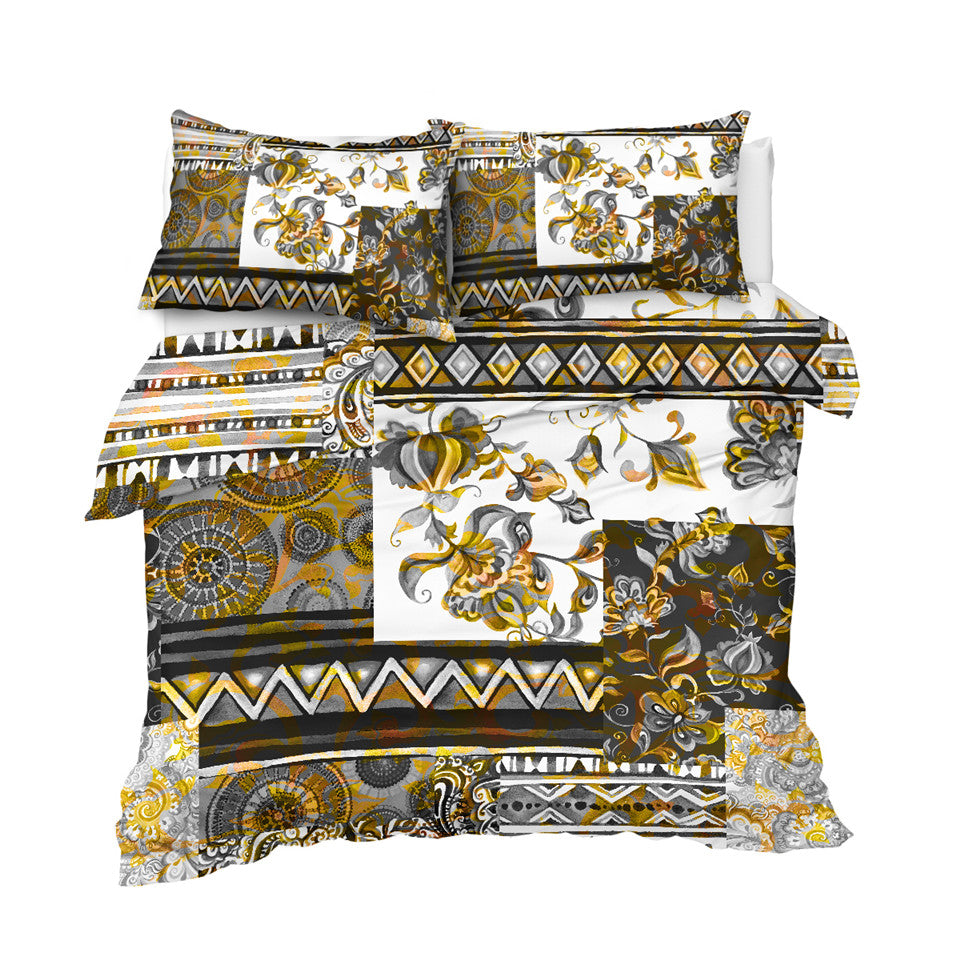Luxury Patchwork Pattern Bedding Set - Beddingify