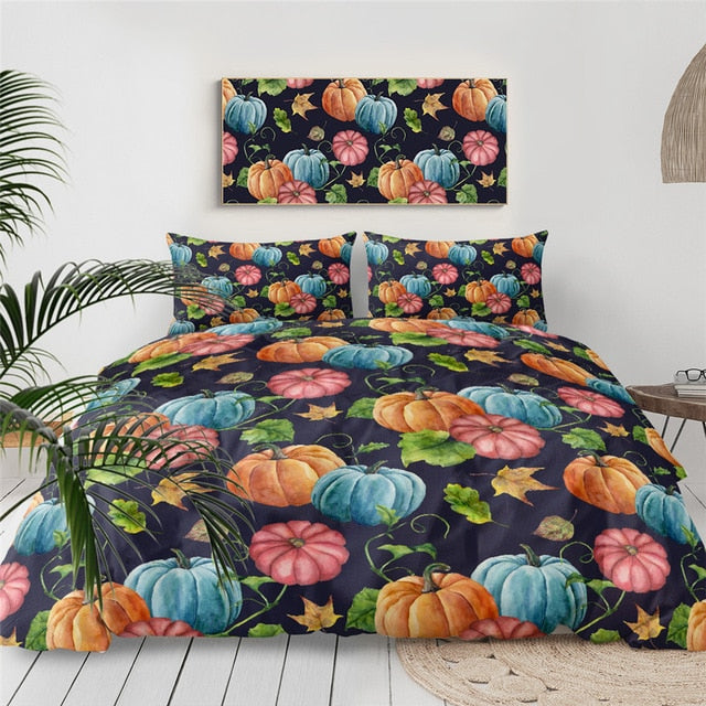Halloween Pumpkin Bedding Set - Beddingify