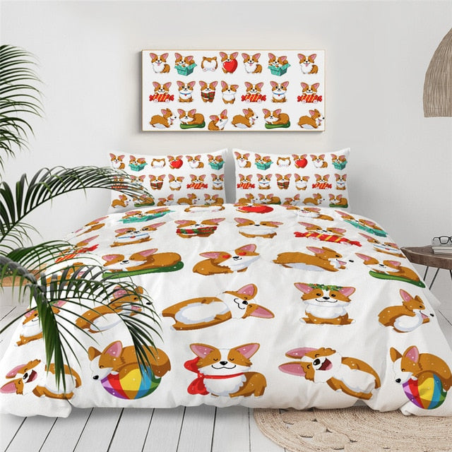 Cute Corgi Bedding Set - Beddingify