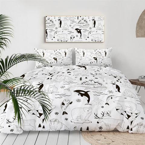 Image of Polar Bear And Friends Bedding Set - Beddingify