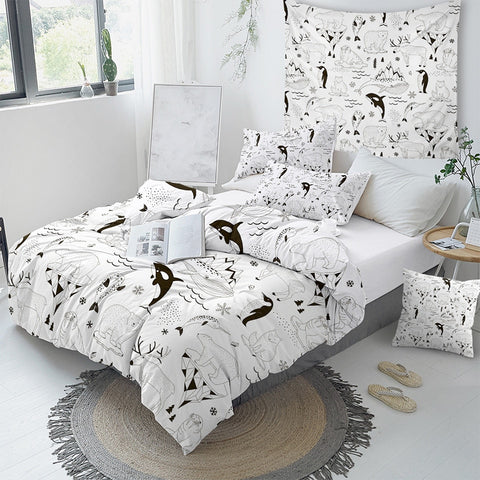 Polar Bear And Friends Bedding Set - Beddingify