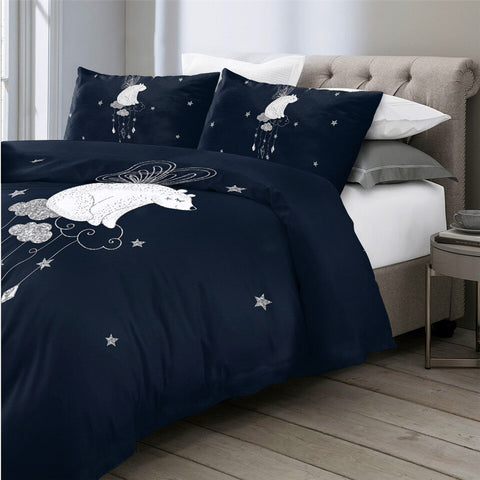Dreaming Polar Bear Bedding Set - Beddingify