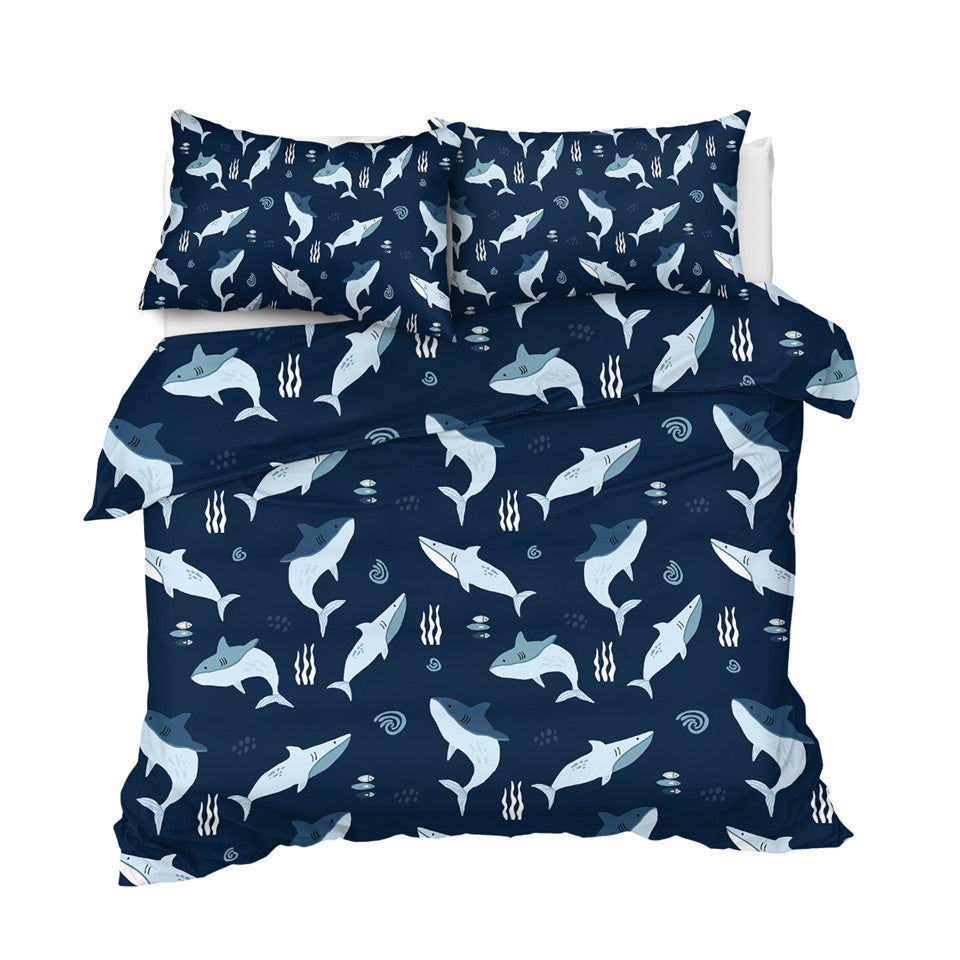 Shark Themed Bedding Set For Kids - Beddingify