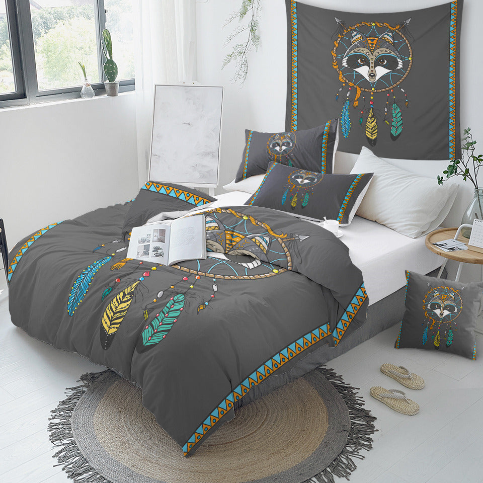 Raccoon Dreamcatcher Bedding Set - Beddingify