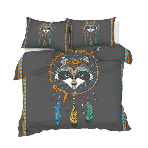 Image of Raccoon Dreamcatcher Bedding Set - Beddingify