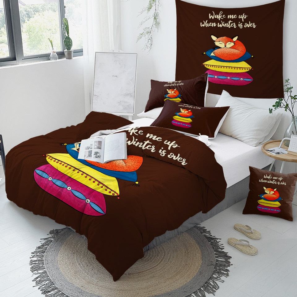 Sleeping Fox Bedding Set - Beddingify