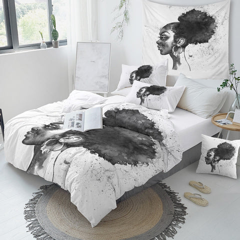 Image of Black Woman Bedding Set - Beddingify