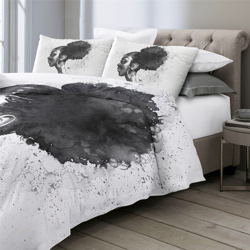 Black Woman Bedding Set - Beddingify