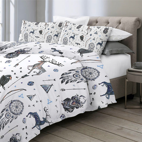 Image of Tribal Themed Elk Bedding Set - Beddingify