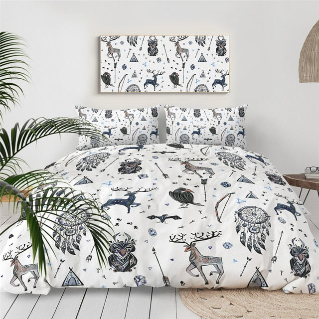 Tribal Themed Elk Bedding Set - Beddingify