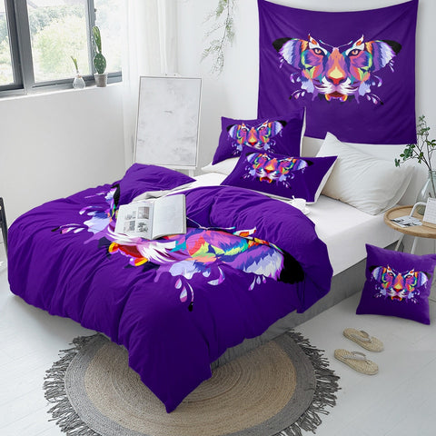 Butterfly and Tiger Face Bedding Set - Beddingify