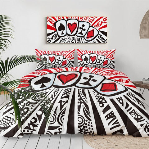 Image of Poker Funny Bedding Set - Beddingify