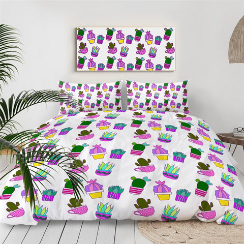 Image of Potted Cactus Bedding Set - Beddingify