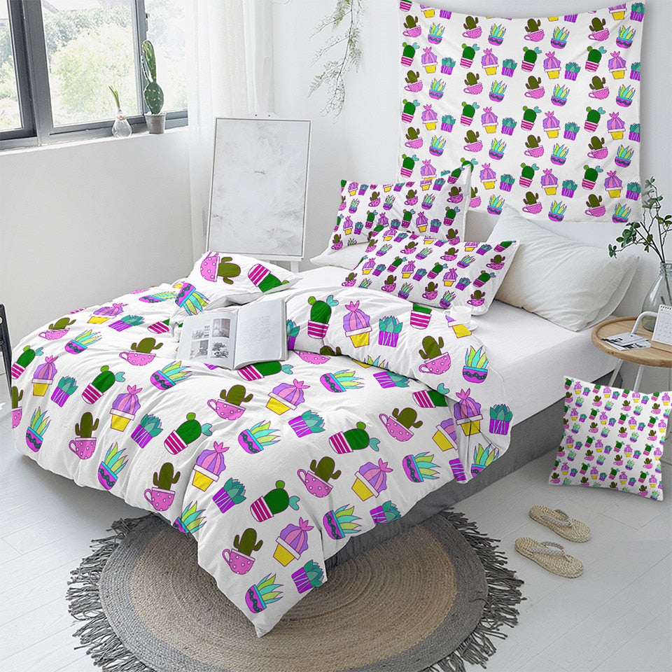 Potted Cactus Bedding Set - Beddingify