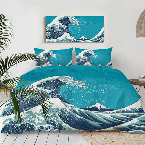 Great Wave Bedding Set - Beddingify