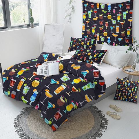 Image of Tropical Cocktails Bedding Set - Beddingify