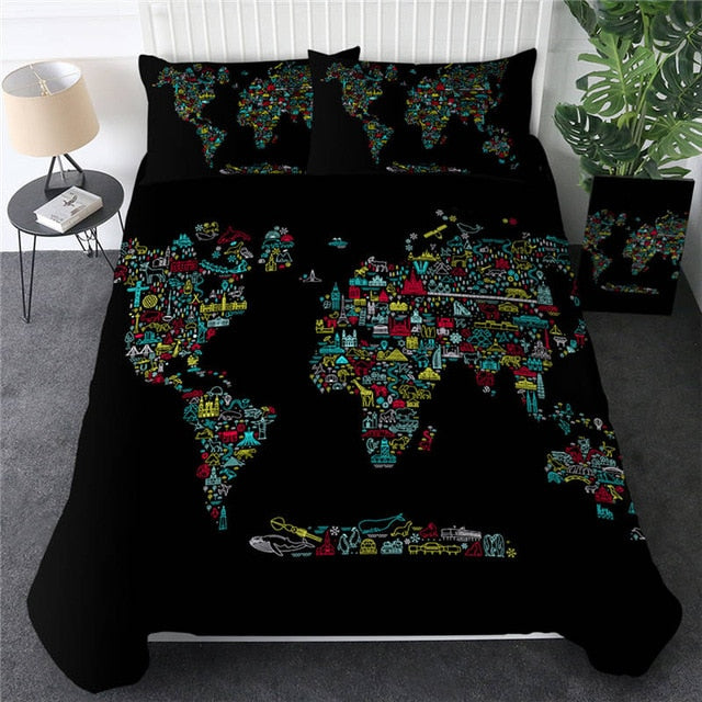 African Map Bedding Set - Beddingify