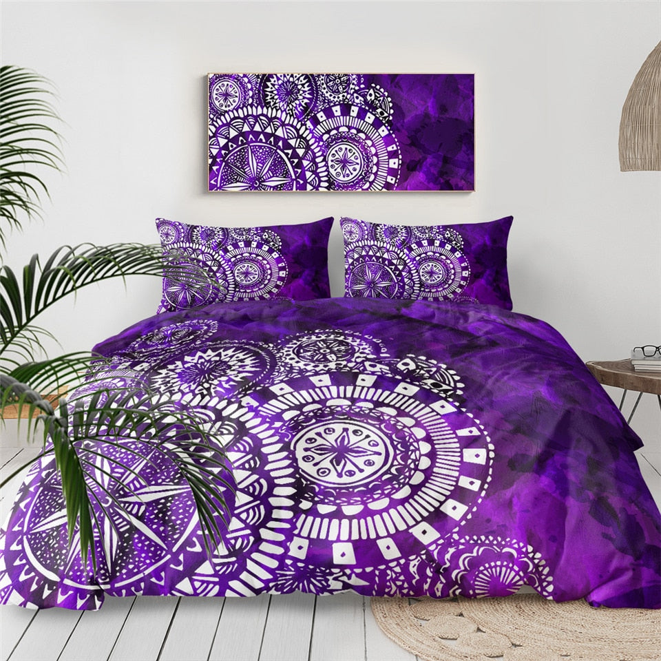 Purple Mandala Indigo Bedding Set - Beddingify