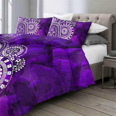 Image of Purple Mandala Indigo Bedding Set - Beddingify