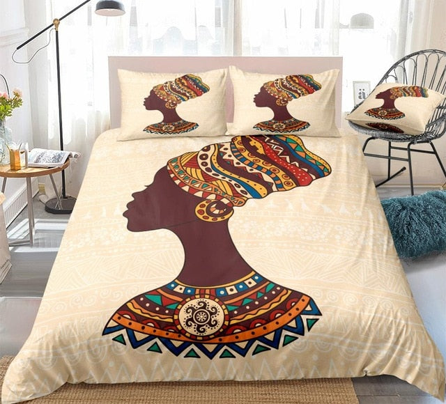 African Women Portrait Bedding Set - Beddingify