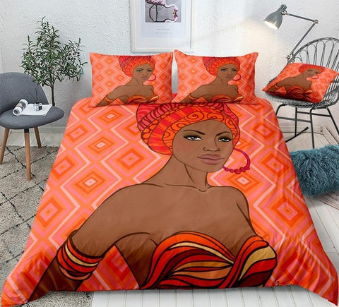 Image of Beautiful African American Girl Bedding Set - Beddingify
